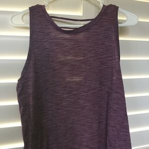 Athleta Purple Performance Top Strappy Open Back